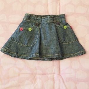 Crazy 8 Baby Girl Denim Skirt Size 6-12 months